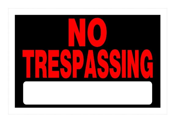 Hillman No Trespassing Sign, 8 x 12-in Product image