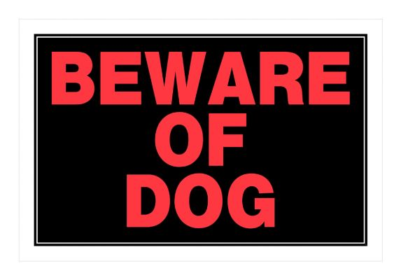 Hillman Beware Of Dog Sign, 8 x 12-in Product image