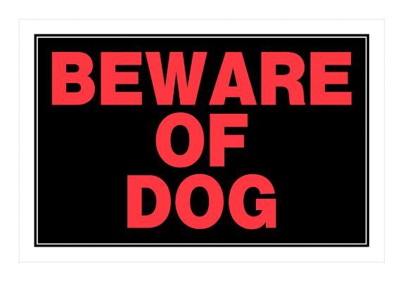 Affiche Beware Of Dog Hillman, 8 x 12 po Image de l'article