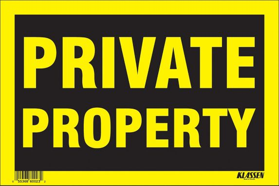 Klassen Private Property Sign, 8 x 12-in Product image