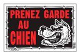 Affiche Prenez garde au chien (français), 8 x 12 po | Hillmannull