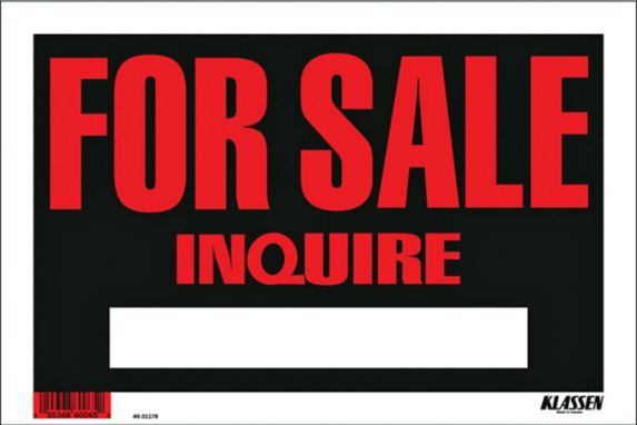 Klassen For Sale Inquire Sign, 8 x 12-in Product image