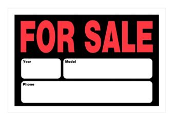 Hillman Auto For Sale Sign 8 X 12 In Canadian Tire