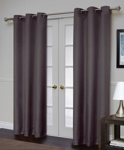 For Living Villamore-Textured Black Thermal Black-Out Drapes, 2-pk Product image