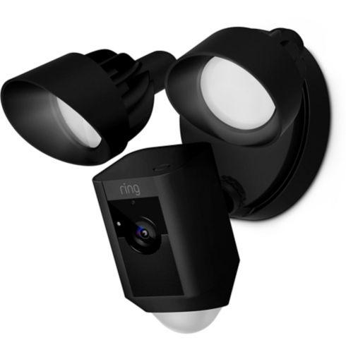Caméra de sécurité pour l'extérieur à détecteur de mouvement avec projecteurs Ring, noir Image de l'article