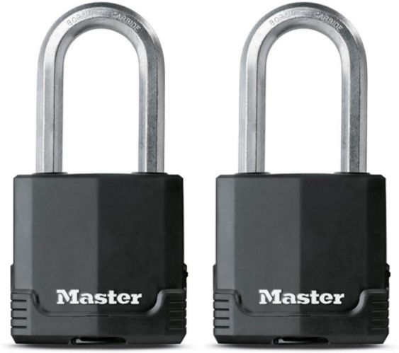 Master Lock Magnum Covered Laminated Padlock Shackle, 2-pk Product image