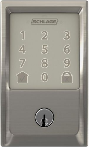 Schlage Encode Century Smart Deadbolt, Satin Nickel Product image