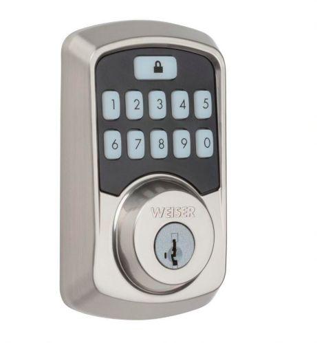 Serrure intelligente à clavier Bluetooth Weiser Aura, nickel satiné Image de l'article