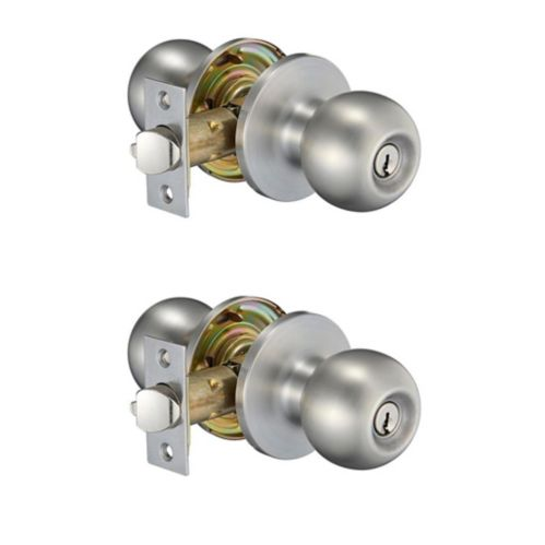Garrison Ball Twin Knob Combo Pack, Stainless Steel Product image