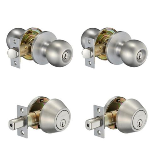 Garrison Ball Knob Double Combo Pack, Stainless Steel Product image