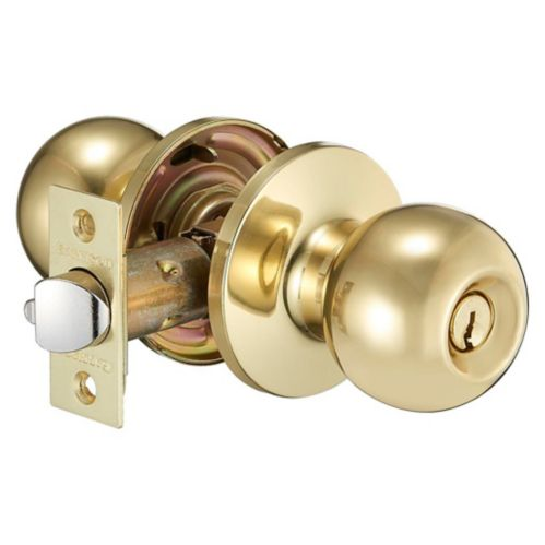 Garrison Ball Entry Knob, Polished Brass Product image