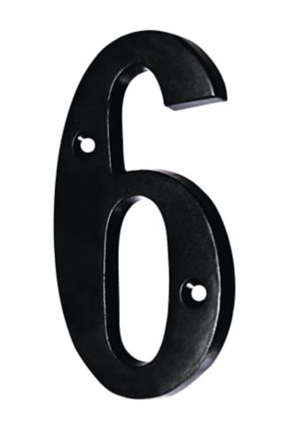 Intersel Black Aluminum House Numbers, 5-in Product image