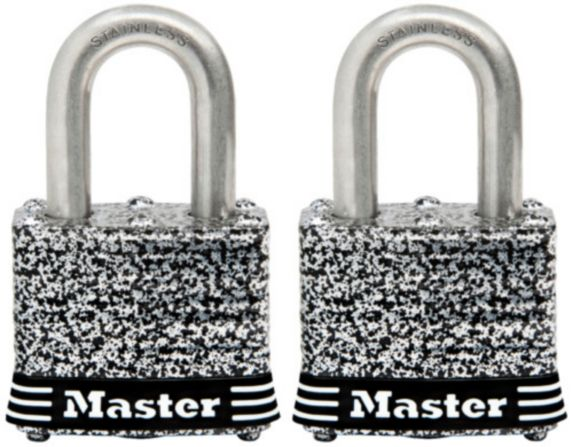 Cadenas large Master Lock, acier inoxydable laminé, 40 mm, paq. 2 Image de l'article