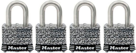 Cadenas Master Lock, acier inoxydable laminé, 40 mm, paq. 4 Image de l'article