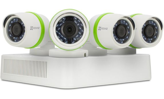 EZVIZ 8-Channel DVR Bullet Surveillance Camera System, 4-pk Product image
