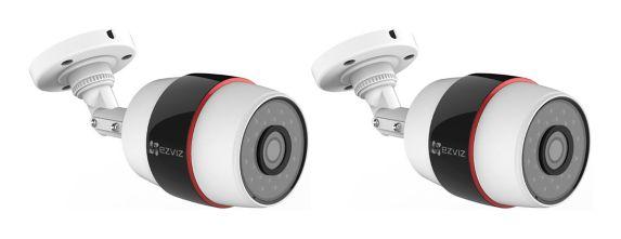 EZVIZ Husky Wi-Fi Outdoor Bullet Surveillance Camera, 2-pk Product image