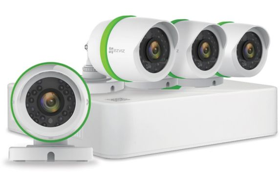 EZVIZ 4-Channel DVR Bullet Surveillance Camera System, 4-pk Product image