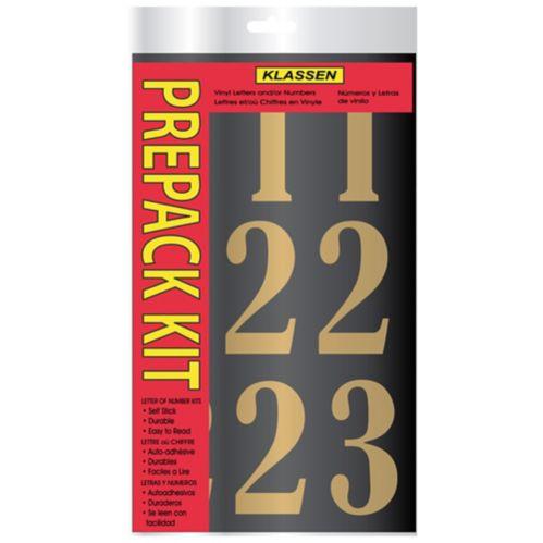Klassen Self Adhesive Number Set, Gold & Black, 3-in Product image