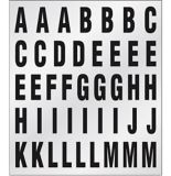 Reflective Numbers / Letters Set, 1-in | Hillmannull
