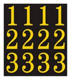 Hillman Self-Adhesive Letters & Numbers Set, Black/Gold, 2-in | Hillmannull