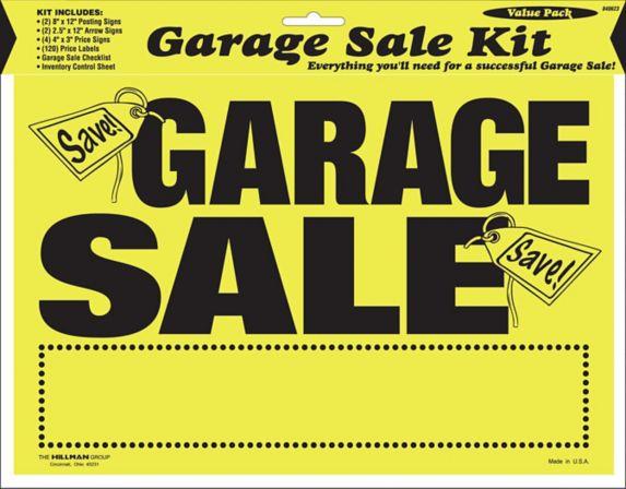 Hillman Ultimate Garage Sale Kit Product image