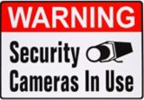 Hillman Warning Security Camera Sign, 4 x 5-in | Hillmannull