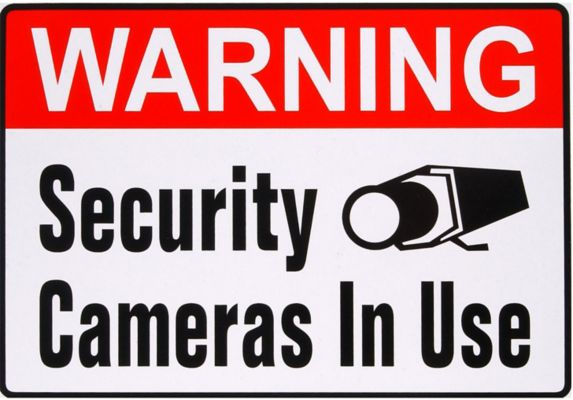 Hillman Warning Security Camera Sign, 4 x 5-in Product image