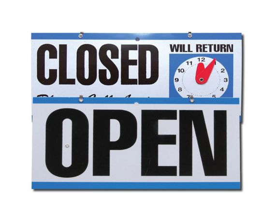 Hillman Open/Closed Clock Sign Product image