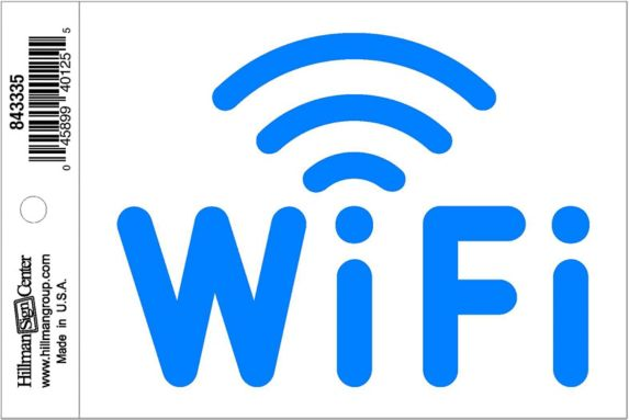 Hillman Wi-Fi Sign, 4 x 5-in Product image