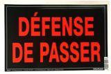Affiche défense de passer Hillman, français, 10 x 14 po | Hillmannull