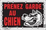 Affiche Prenez garde au chien Hillman, français, 10 x 14 po | Hillmannull