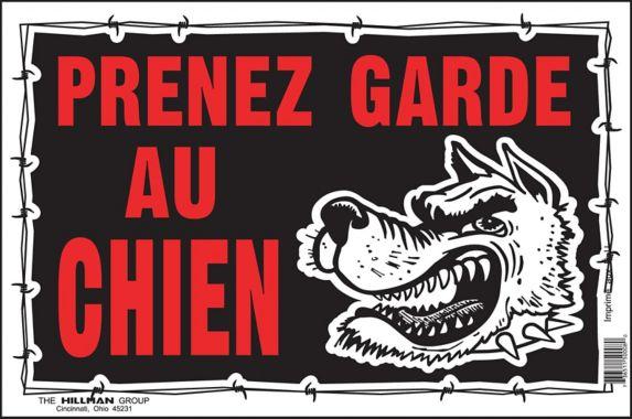 Affiche Prenez garde au chien Hillman, français, 10 x 14 po
