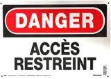 Affiche d'avertissement Hillman, français, 10 x 14 po | Hillmannull