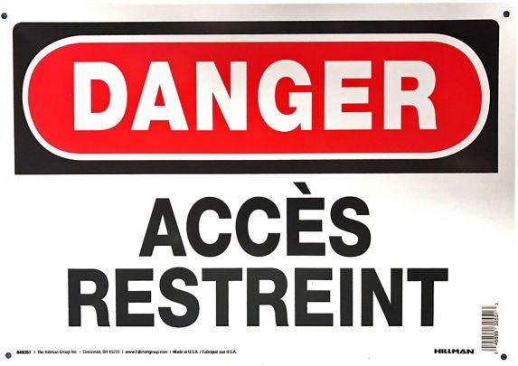 Affiche d'avertissement Hillman, français, 10 x 14 po Image de l'article