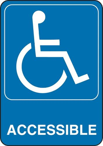 Hillman Accessibility Sign, 5 x 7-in Product image