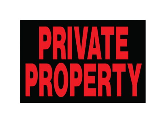 Hillman Private Property Sign, 10 x 14-in Product image
