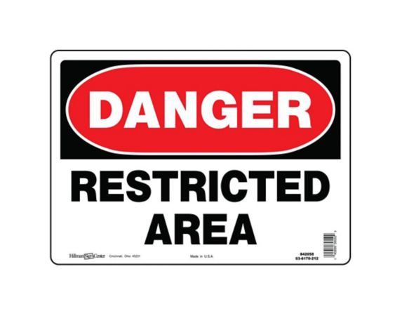 Hillman Danger Sign, 10 x 14-in Product image