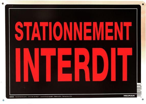 Affiche en aluminium Hillman 849336, stationnement interdit, 10 x 14 po, paq. 1 Image de l'article