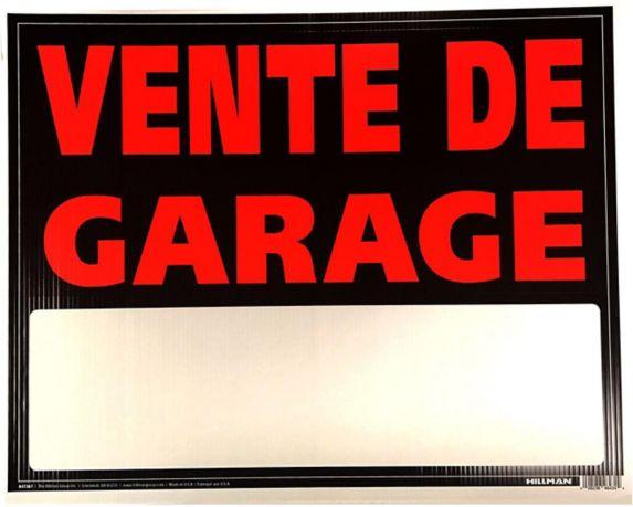 Affiche en matériau ondulé Hillman 847367, vente de garage, 19 x 24 po, paq. 1 Image de l'article