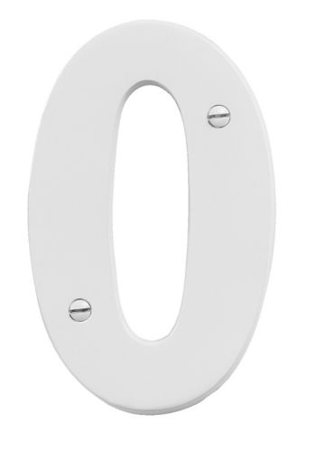 Intersel White Aluminum House Number, 5-in Product image