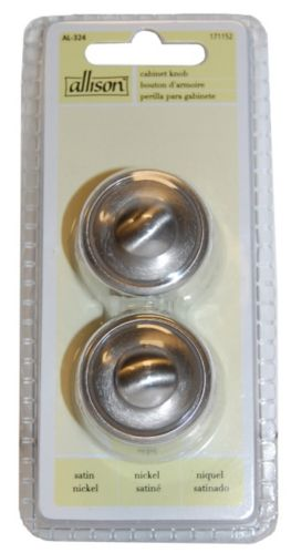 Button Nickel Cabinet Knob, 2-Pk Product image