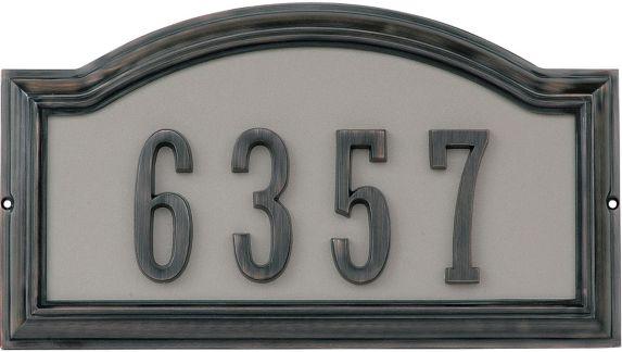 Plaque d'adresse Hillman, bronze patiné Image de l'article