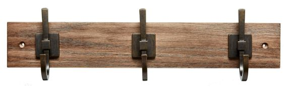 CANVAS 3-Hook Weathered Walnut Rail, 18-in Product image