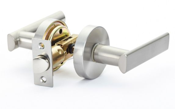 Garrison Passage Square Door Lever, Satin Nickel Product image