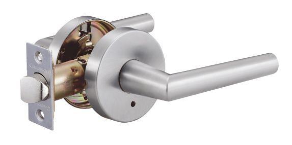 Garrison Privacy Round Door Lever, Satin Nickel Product image