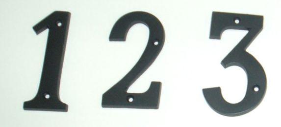 Chiffres de maison Intercel, 3 po, noir