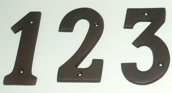 Chiffres de maison Intercel, 5 po, bronze Image de l'article