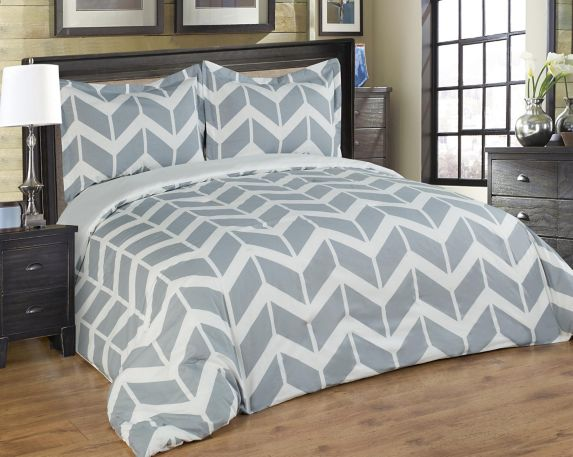 Bed in a Bag, Grey Chevron, 2-pc Product image