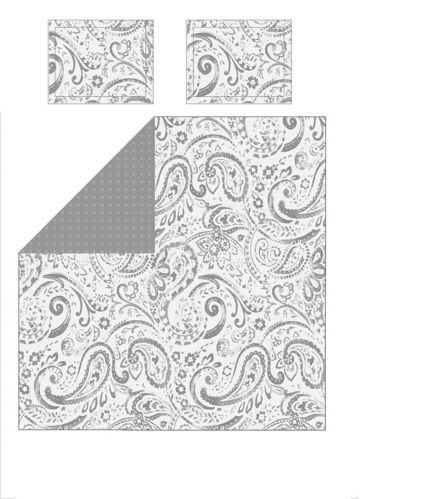Ensemble de literie à motifs paisley et pois, 3 pces