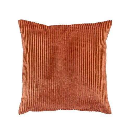 CANVAS Velvet Ribbed Toss Cushion, Toasted Pumpkin, 18-in Product image